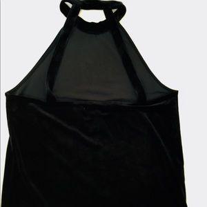 NWT Black Velvet Mango Halter top size M